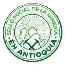 Social Mining Seal in Antioquia.